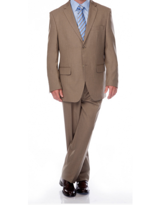 Angelo Rossi Khaki Mens Business Suit