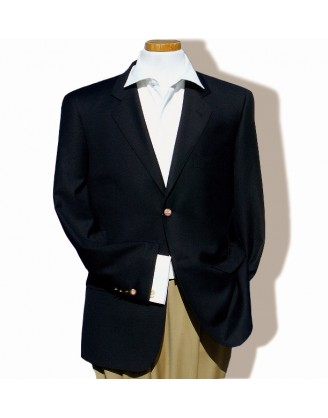 DANIELE Classic Black Mens Wool Sport Coat Blazer with Gold Buttons