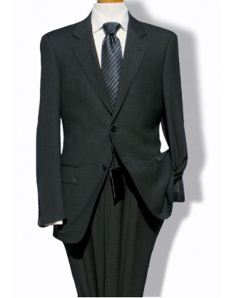 Daniele Men's Suit - Charcoal Birdseye Nailhead