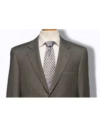 DANIELE MENS SUIT- SALT & PEPPER BIRDSEYE NAILHEAD