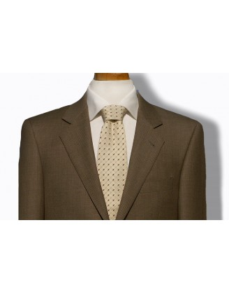 DANIELE MENS SUIT- TAN BIRDSEYE NAILHEAD
