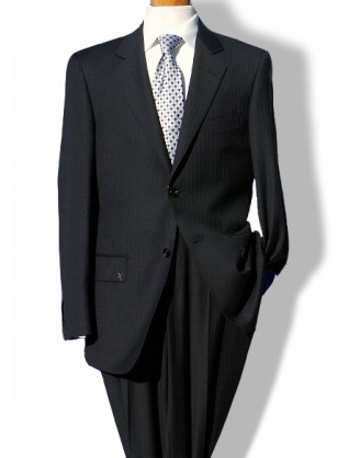 Daniele Charcoal Herringbone 2 Button Mens Suit