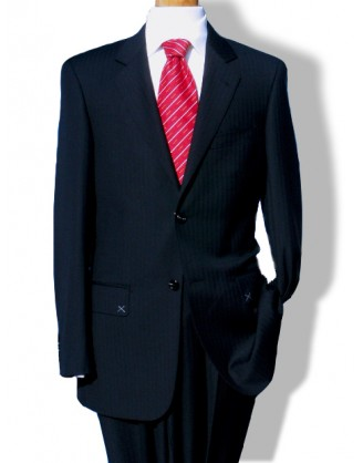 Daniele Navy Herringbone 2 Button Mens Suit