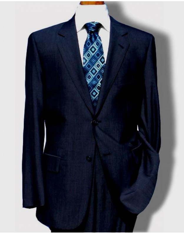 Daniele Dark Blue Melange Men Dress Suit Reg Cut