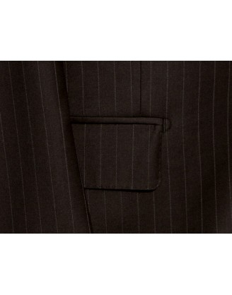 Daniele Brown Pinstripes 2 Button Wool Mens Suit