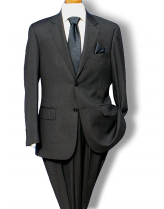 Daniele Charcoal Sharkskin super 150s Wool Dress Suit