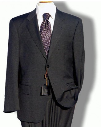 Solid Charcoal 2 Button Mens Suit
