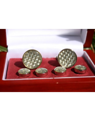 Cufflinks by Bel Verto~Diamond Check Cufflinks