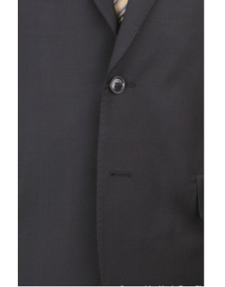 Leonardo Valenti Olbia 100% Wool  2 Button Solid Black