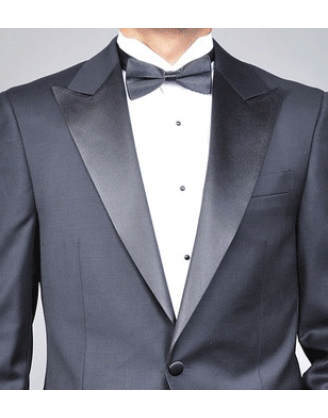 Mantoni Mens 1 Button Peak Lapel Wool Tuxedo