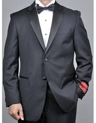 Mantoni Mens 2 Button Notched Lapel Wool Tuxedo