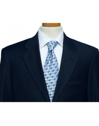 Mantoni Solid Navy 2 Button Mordern Fit Mens Suit