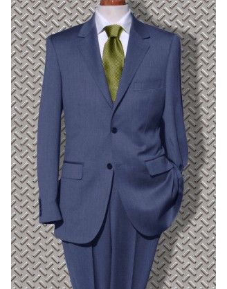 Daniele HIGH LINE Blue Mini-Birdseye Mens Suit SLIM Althetic Cut