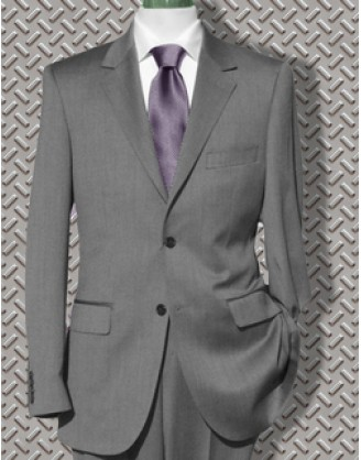 SUPER SALE! 44R Only Daniele HIGH LINE Grey Mini-Birdseye Mens Suit SLIM Althetic Cut