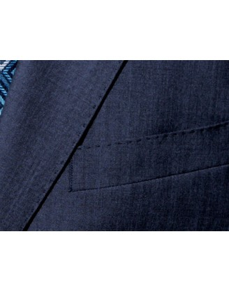 Daniele HIGH LINE Blue Sharkskin Mens Suit Athletic/slim Cut