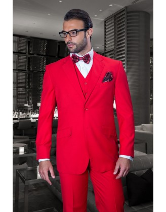 Statement 3Pc Modern Fit Red Super 150'S