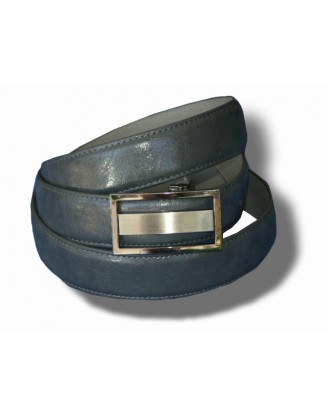 Giorgio Cosani Gray Textured Leather Belt