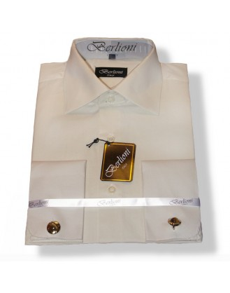 SALE!! XL, L, S Sizes BIEGE  Mens 100% Cotton French Cuff & Cufflinks Dress Shirt